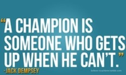 A CHAMPION IS