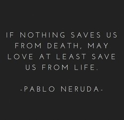 IF NOTHING SAVES US 