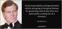 Fiscal responsibility and government 