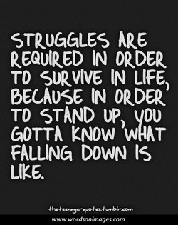 STRUGGLES 