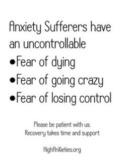 finxietg Sufferers have 