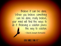 Velleve It can be done.