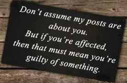 Don 't assume my posts are 