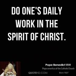 DO ONE'S DAILY 