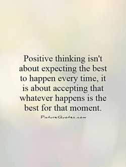 Positive thinking isn't 