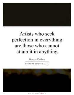 Artists who seek 