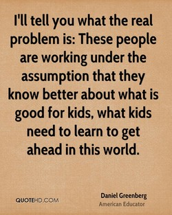 I'll tell you what the real 
