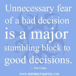Unnecessary fear
