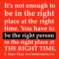 It's not enough to 