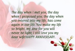 The day when I met you, the day 