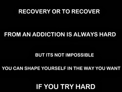 RECOVERY OR TO RECOVER 