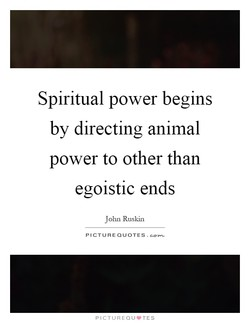 Spiritual power begins 