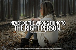 WRONG THING TO