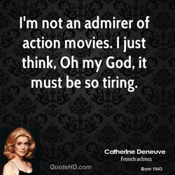 I'm not an admirer of 