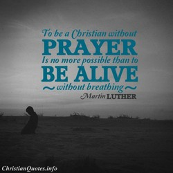 To be a Christian without 