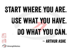 START WHERE YOU 