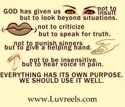 GOD has given us 