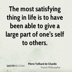The most satisfying 