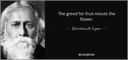 The greed for fruit misses the 