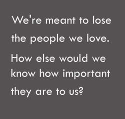 We're meant to lose 