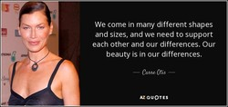 We come in many different shapes 