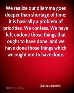 We realize our dilemma goes