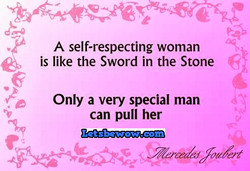 A self-respecting woman 
