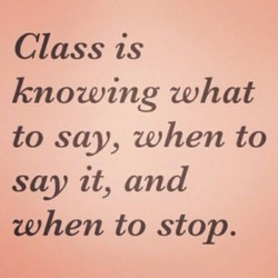 Class is 