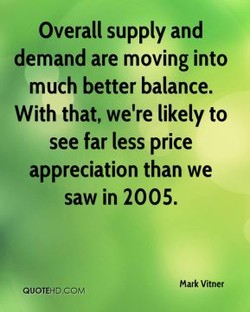 Overall supply and 