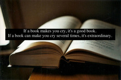 If a book makes you cry, it's a good book. 