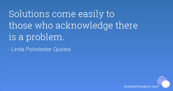 Solutions come easily to 