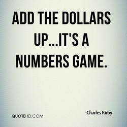 ADD THE DOLLARS 