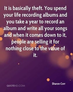 It is basically theft. You spend 