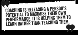 COACHING IS RELEASING A PERSON'S
