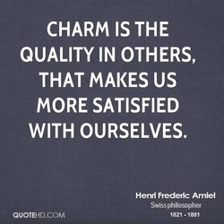CHARM IS THE 