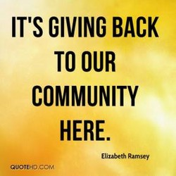 IT's GIVING BACK 