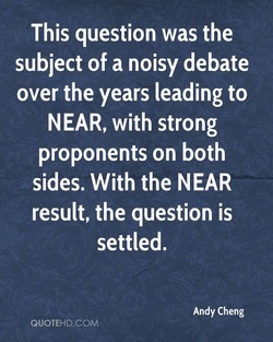 This question was the 