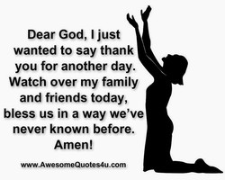 Dear God, I just 