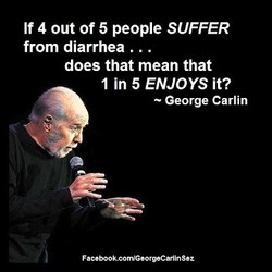 If 4 out of 5 people SUFFER