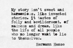 My story isn't sweet 