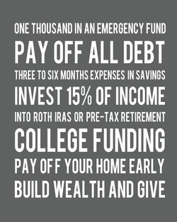ONE THOUSAND IN AN EMERGENCY FUND 