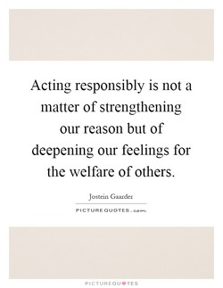 Acting responsibly is not a 
