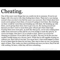 Cheating. 