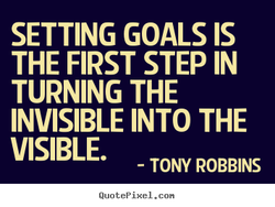 SETTING GOALS IS 