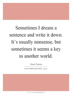 Sometimes I dream a 