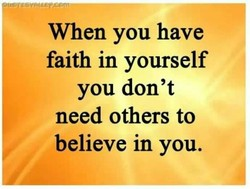 When you have 