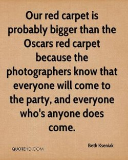 Our red carpet is 