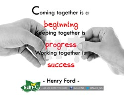 oming together is a 