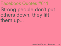 Strong people don't put 