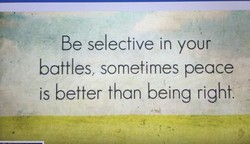 Be selective in your 